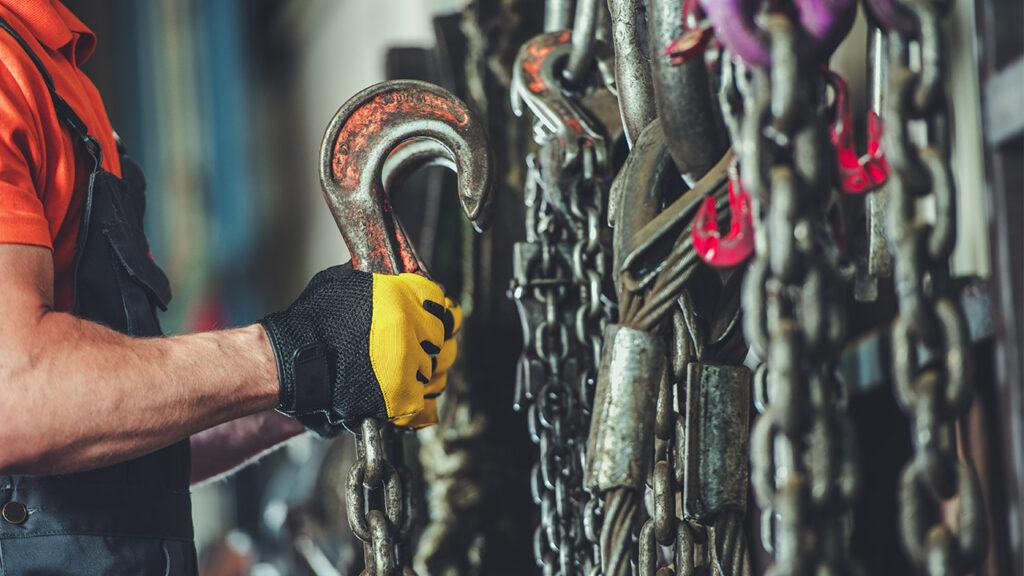 Almacenaje eslingas de cadena
